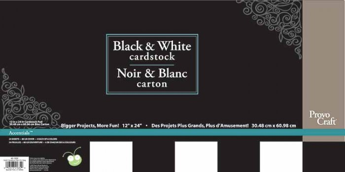 CriCut Blacks & Whites 12x24 Card Stock