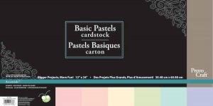 CriCut Basic Pastels 12x24 Card Stock
