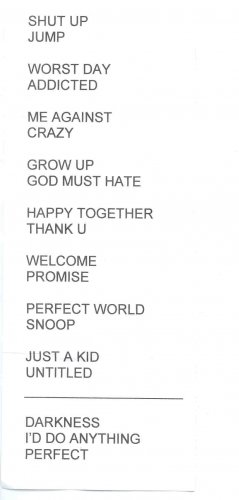 Simple Plan Setlist - Ritacco Center - 11/04/05