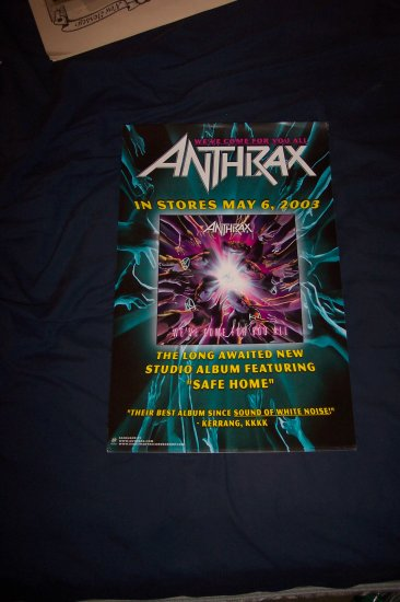 Anthrax Album Promotion Poster