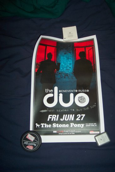 Benevento Russo Duo Tour Poster Phish