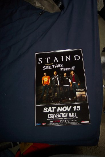 Staind Seether Papa Roach Tour Poster