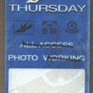 Thursday Backstage Pass