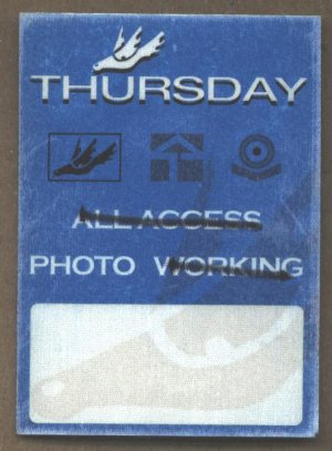 Thursday Backstage Pass