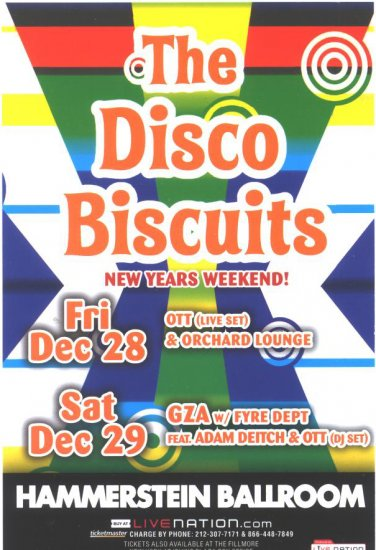 5 Disco Biscuits Handbills Phish Moe
