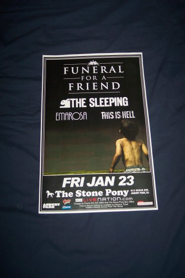 Funeral For A Friend Tour Poster