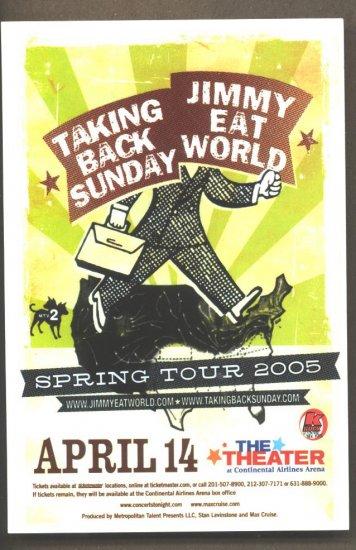 3 Taking Back Sunday Jimmy Eat World Tour Handbills