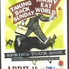 3 Taking Back Sunday Jimmy Eat World Tour Handbills