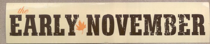 2 The Early November Stickers