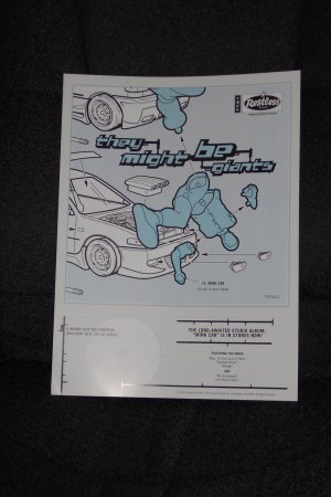 """They Might Be Giants """"Mink Car"""" Promotion Poster"""