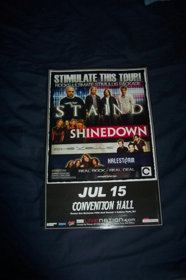 Staind Shinedown Chevelle Concert Poster
