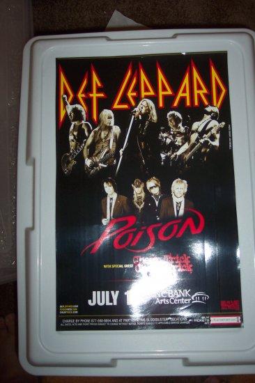 Def Leppard Poison Cheap Trick Concert Poster