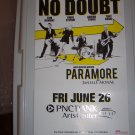 No Doubt Paramore Concert Poster