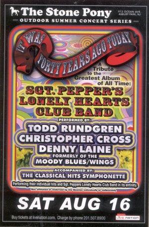 5 Sgt Peppers Handbills Beatles Wings Todd Rundgren