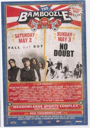 5 Fall Out Boy No Doubt Concert Handbills