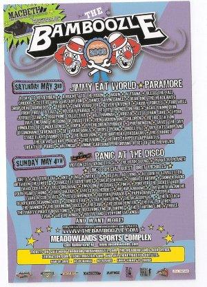 5 Bamboozle 2008 Handbills Paramore Jimmy Eat World Panic At The Disco