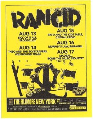 3 Rancid Concert Flyers