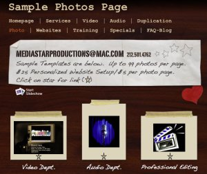 Website Photo Page with Auto Slideshow