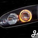 Proton Wira/Satria/Putra Head Lamp - Crystal / Black / 1 CCFL / Projector