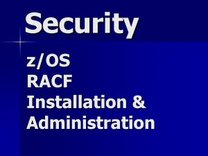 RACF Security Contractor