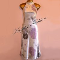 Principles Pure Silk Cream Print Dress Size UK 16, US 14