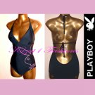 Genuine PLAYBOY Black Backless swimsuit Size UK 12, US 10 NEW
