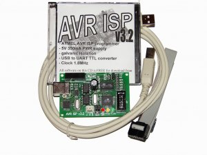 4-in-1 ATMEL AVR ISP programmer with 7-socket DIP board !!Free air shipping!!