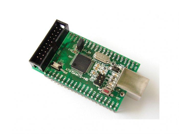 ATMEL AT91SAM7S512 ARM7 ARM header board, JTAG, USB AT91SAM7S-HB