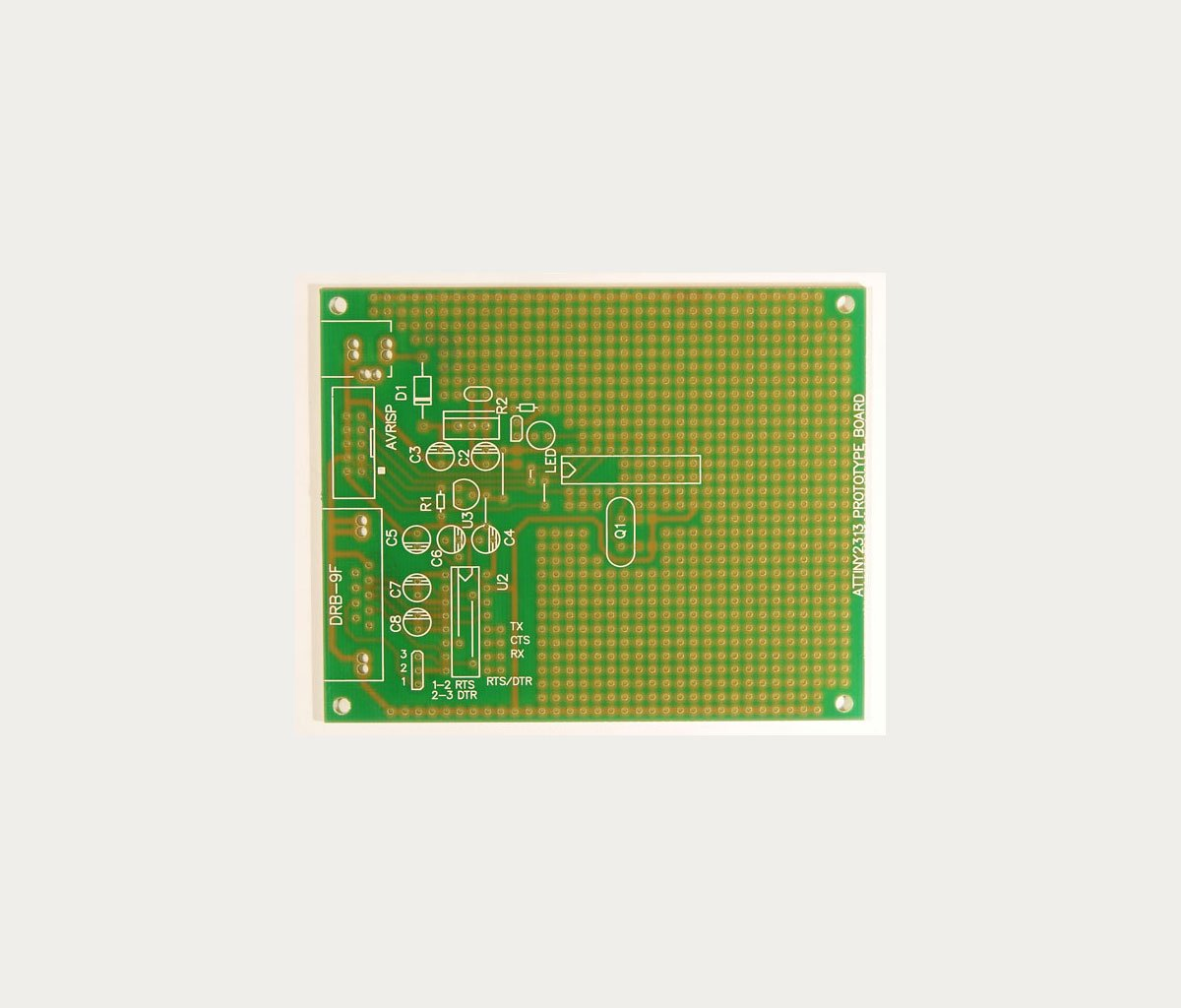 AVR ATMEL PROTOTYPE BOARD ATtiny2313 AT90S2313