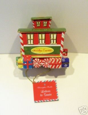 RADKO LETTERS TO SANTA CABOOSE CANDLEHOLDER NEW IN BOX