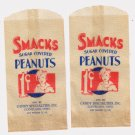 2 SMACKS SUGAR COVERED PEANUTS 1 CENT BAGS FREE US SHIPPING