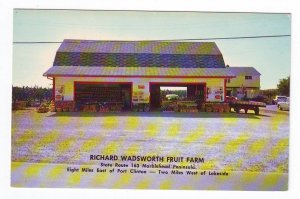 VINTAGE POSTCARD RICHARD WADSWORTH FRUIT FARM MARBLEHEAD, OH FREE US SHIPPING