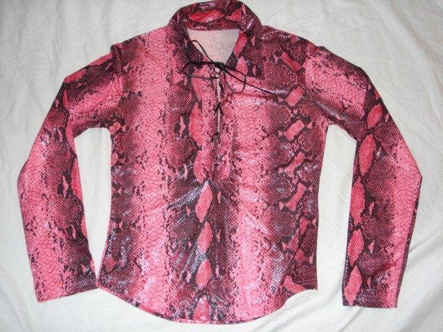 Snake skin like stretch cool shirt size S.