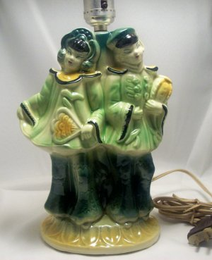 Vintage Shawnee Pottery Oriental/Asian Figural Accent Lamp