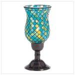 Mosaic Turquoise Candleholders