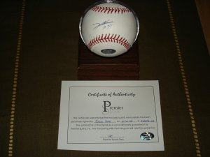 Jorge Sosa AUTO Official MLB SIG Baseball - Premier Sports COA