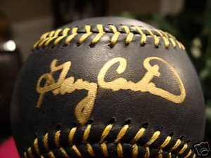 Gary Carter Autographed OML Black Leather Baseball