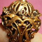 Vintage Filigree Domed Czech ring