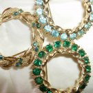 Vintage Rhinestone Circle Pin Jewelry Lot