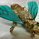 Cute lucite bug figural pin