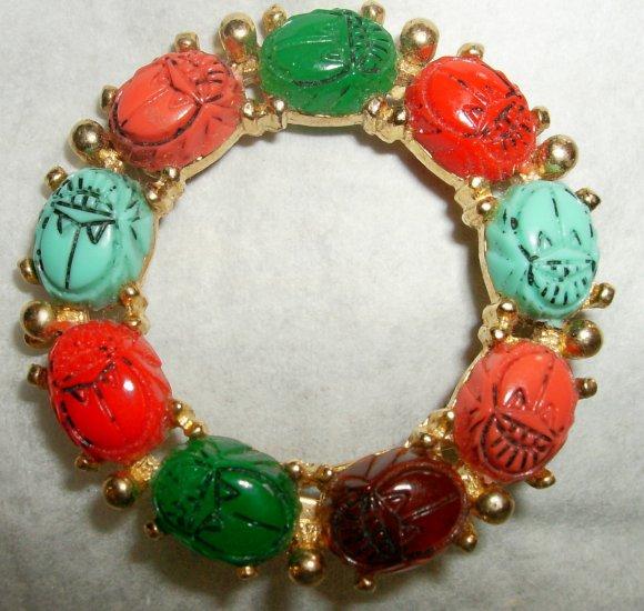 Vintage Scarab Pin Brooch