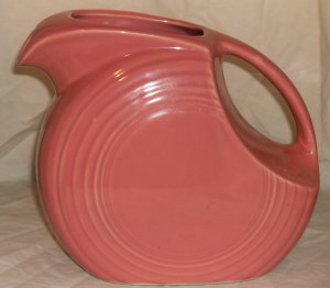 Fiesta Pink Salmon Disc Pitcher