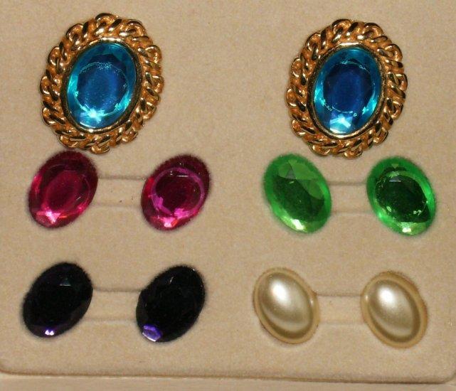 KJL Rhinestone Clip Earrings