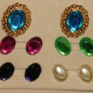 KJL Rhinestone Clip Earrings