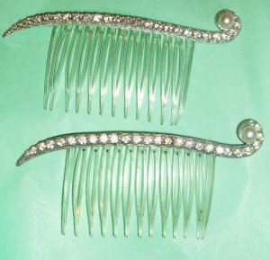 Vintage Rhinestone Hair Combs