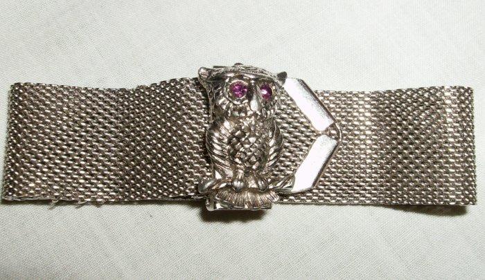 Sarah Coventry Mesh Owl Bracelet