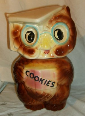 American Bisque Owl Cookie Jar USA