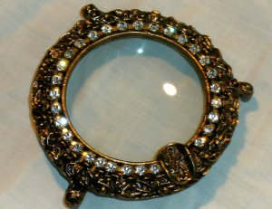 Vintage Rhinestone Vanity Ashtray Collectible