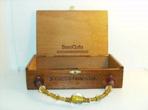 Vintage Wood Cigar Box purse