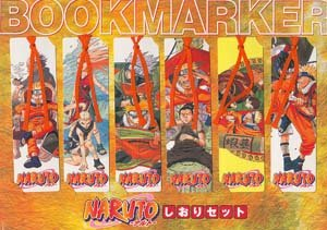 Naruto Bookmarks - Set of 6